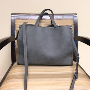 Grey faux suede purse/tote